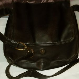 Handbags - Faux leather brown crossbody purse